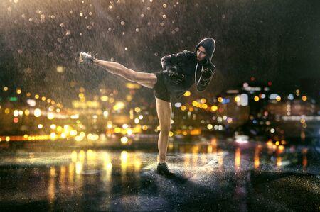 Woman trains self defense