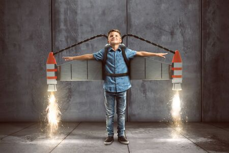 Child with jetpack