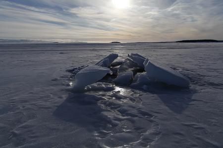 ice blocks: Ice blocks on the ocean