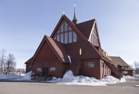 kiruna: Kiruna church with it\
