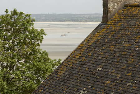 st  michel: Inside the Mont St Michel and a group of tourists in France