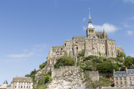 st  michel: A low angle photo on Mont St Michel in Normandy France Stock Photo