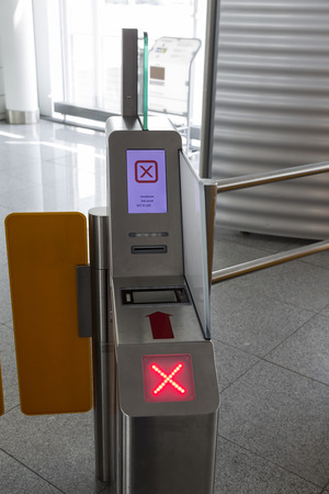 electronical: A electronical ticket machine for boarding at airports
