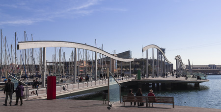 rambla: Rambla Del Mar, a beatiful shopping area in Barcelona, Normally its very crowded here with a lot of tourist.