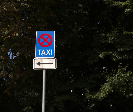 explanations: A traffic sign telling you that parkings is not allowed here