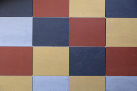 symetry: A group of colored squares forming this symetric pattern Stock Photo