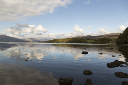 loch lomond: Loch Lomond in Scotland the beautiful lake with some mountains in the background
