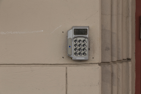 pin code: A device for entering pin code to getting physical access to a place