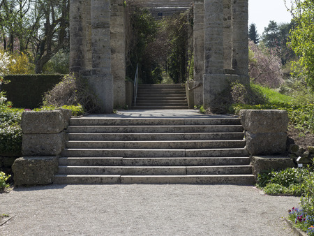 leading the way: A stair of stones leading in a walk way