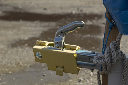 hitch: A locking equipment on a hitch