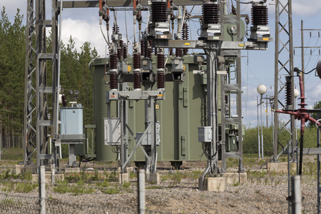 coils: Parts of a power plant equipment with wires and coils