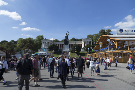 fest: The statue of Bavaria seen from  the October fest area