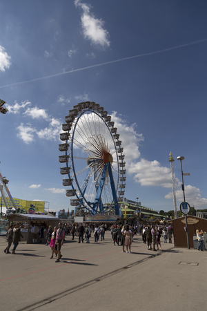 fest: Riesenrad from the side on the october fest in Munich