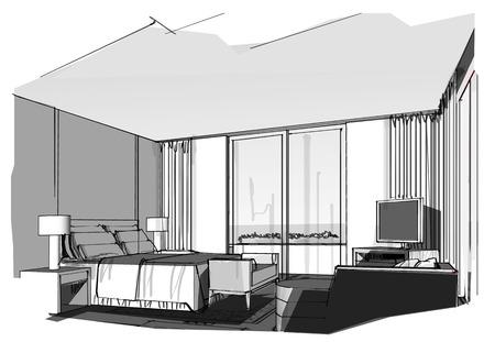 Stunning Chambre En Perspective Cavaliere Ideas - Antoniogarcia ...