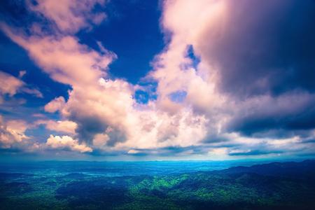 High angle view. Cloud mountain sky Фото со стока