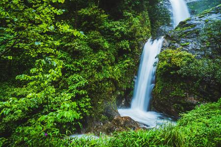 Travel the highest waterfall in Chiangmai Mae-pan waterfall rainy season forest at Doi intanon