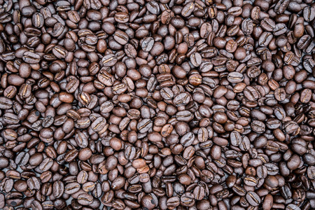 Background image Coffee beans full pole frame Angle top image