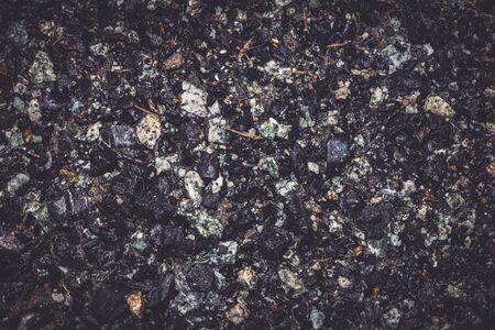 Fond texturé gravier / grain. le noir Banque d'images