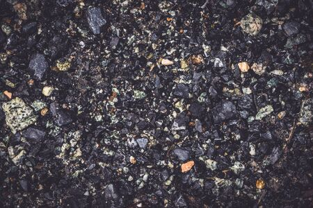 Background textured gravel  grit. black