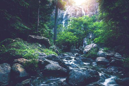 background Wallpaper nature Waterfall. Khlong lan Waterfall thailand Stock fotó