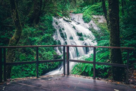 background Wallpaper nature Waterfall. thailand doi inthanon
