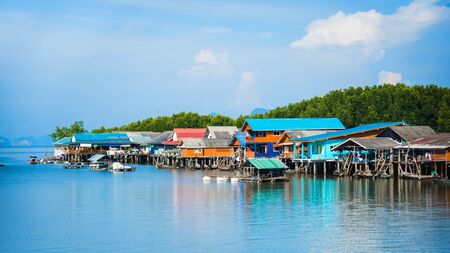 Landscape pictures The way of life of the villagers in rural villages Ban Bang Phat - Phangnga. summer, nature, background, travel, sea, countryside, Attractions, travel Thailand. camp, the beach, Lake.