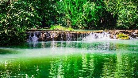 Landscape Waterfall Than Bok Khorani. (Thanbok Khoranee National Park)lake, nature trail, forest, mangrove forest, travel nature, travel Thailand, Nature Study. Attractions.