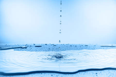 water splash collection on blue background
