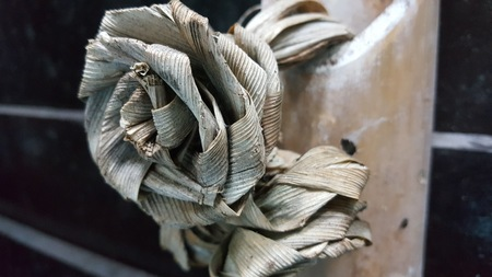 Artificial flower from dried pandanus