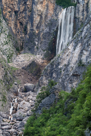 boka: Boka waterfall in Triglav National Park, Slovenia