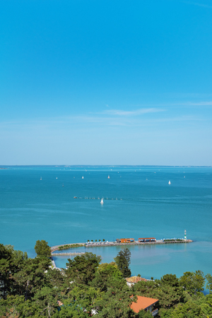 Port of Tihany on Lake Balaton, Hungary