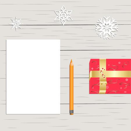 a gift next to a pencil