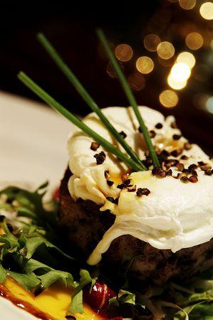 nosh: Still life food shot of a starter in a restaurant