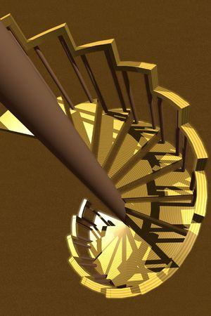 3D vector spiral staircase Stock Photo