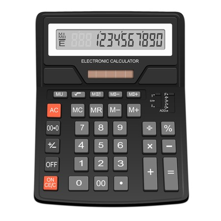 Electronic calculator - isolated on white background  Photo-realistic vector Illustration