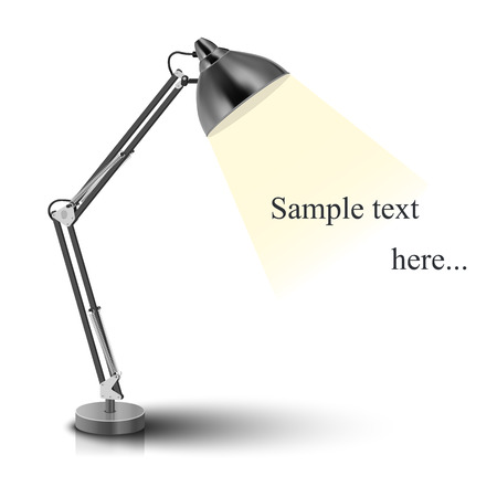 fixture: Vector desk lamp - isolated on white background  Photo-realistic vector