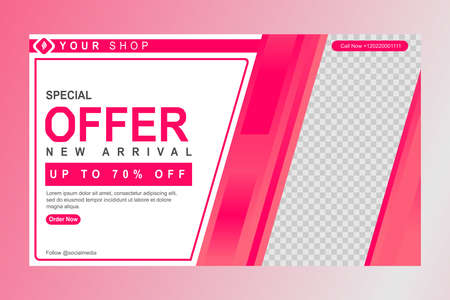 Banner template for promotion content Vettoriali