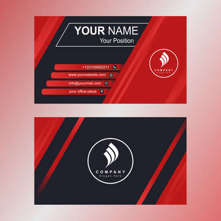Business Card Template For Your Branding Vettoriali