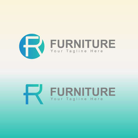 Furniture Logo Template For Company Vettoriali