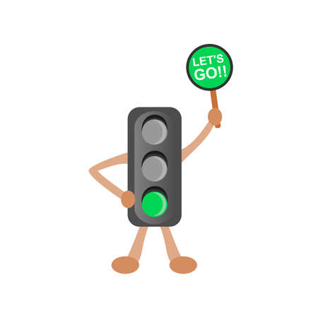 Traffic Light Charater Ilustration