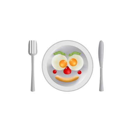 Egg breakfast menu vector illustration