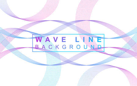 Wave line background with gradient Vettoriali