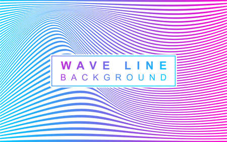 Wave line background with gradient color