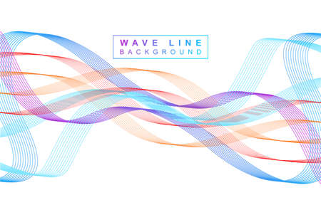 Wave line background vector with gradient Vettoriali