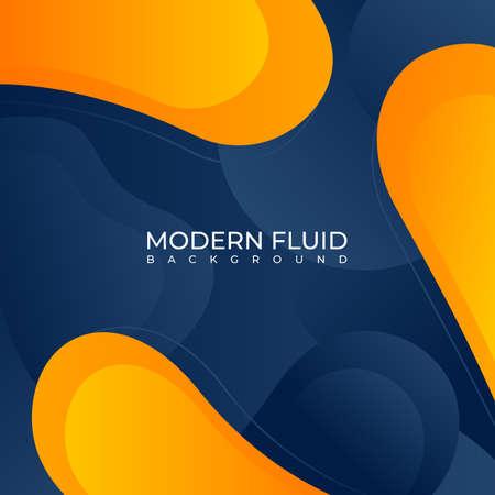 Modern fluid background with blue & orange gradient Vettoriali