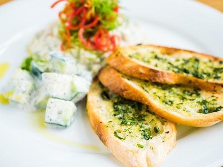 toast with salad