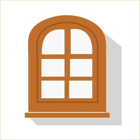 windowsill: Flat window icon isolated on background for your design