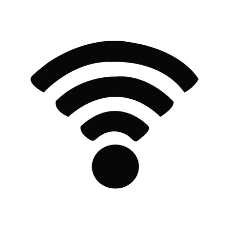 Wireless and wifi icon or sign for remote internet access. Illustration