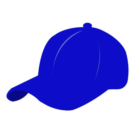hat in blue i con .
