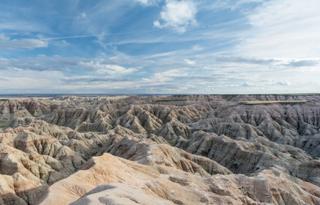 stretch out: Weather has eroded sandstone into ridges which stretch out in every direction Stock Photo